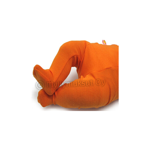 Strampelhose Merinowolle orange