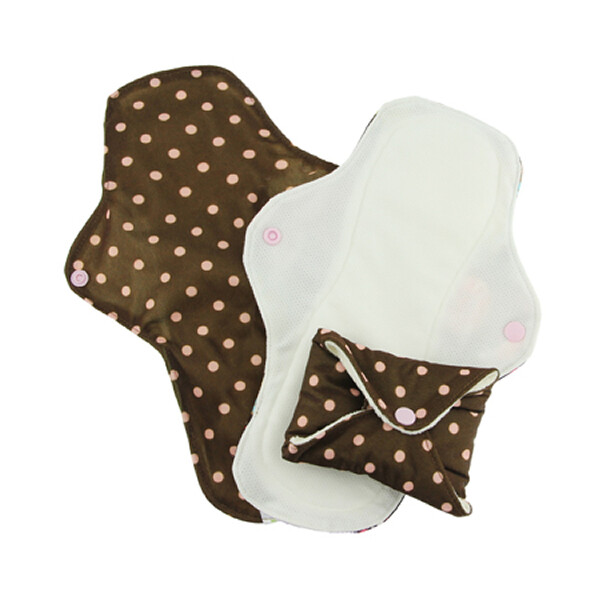 PinkDaisy Menstruations-Pad StayDry Gr. S Pink on Chocolate 3er-Set