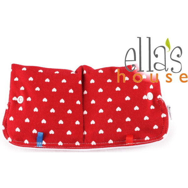 EH Moon Pouch Bindentäschen red hearts