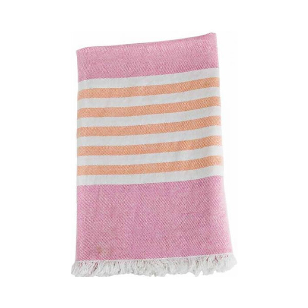 lulujo Turkish Towel Badetuch Pink & Apricot