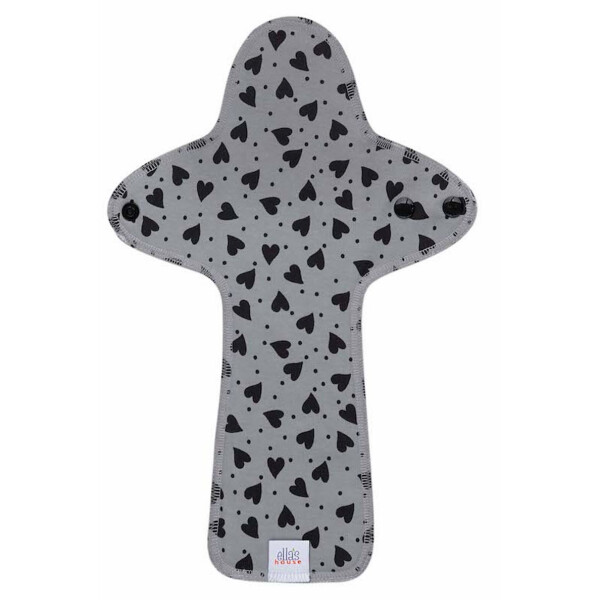 EH Moon Pads Maxi Slipeinlage hearts black/grey