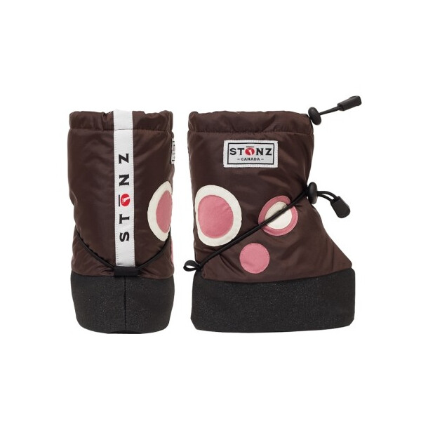 Stonz Booties Polka dot brown