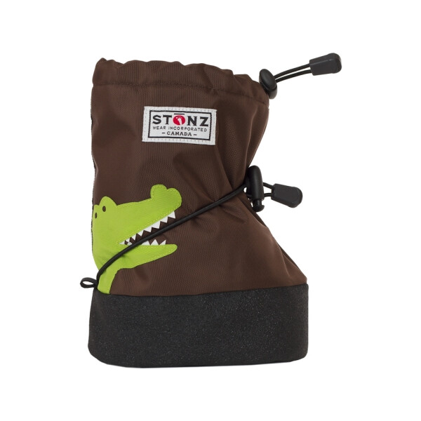 Stonz Booties Crocodile brown